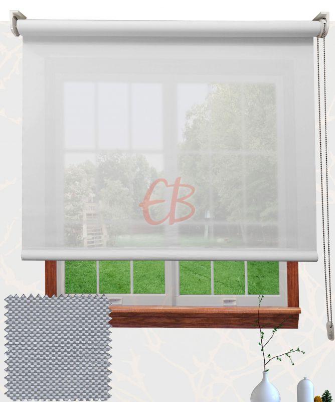 Estor enrollable Eco Screen 10% Blanco Perla V10 0207