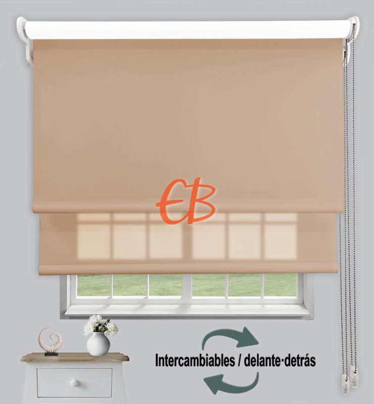 Estor doble enrollable Marrón cl CAB16/Marrón cl CA16