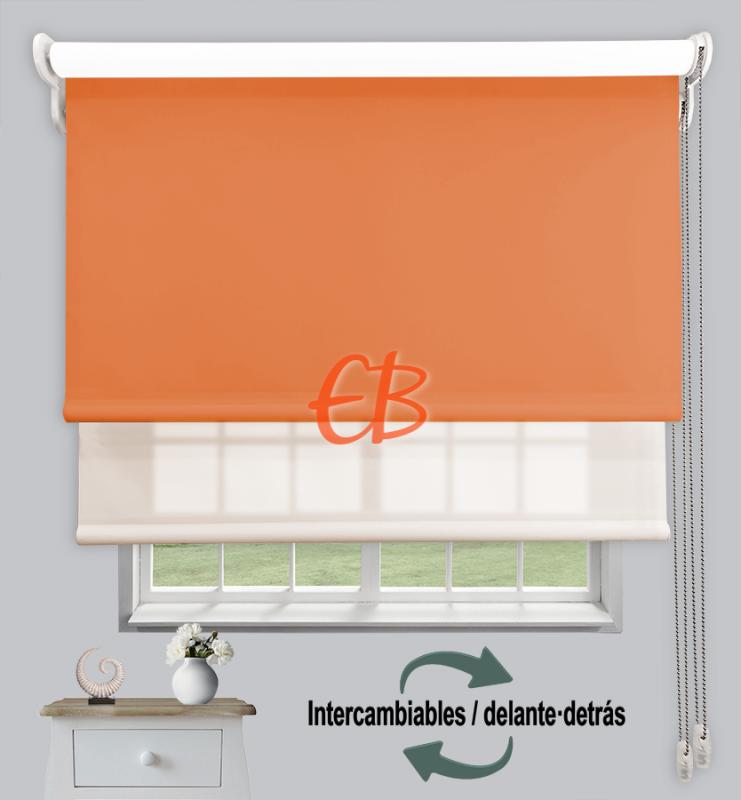 Estor doble enrollable Naranja CAB20 / Beige CA01