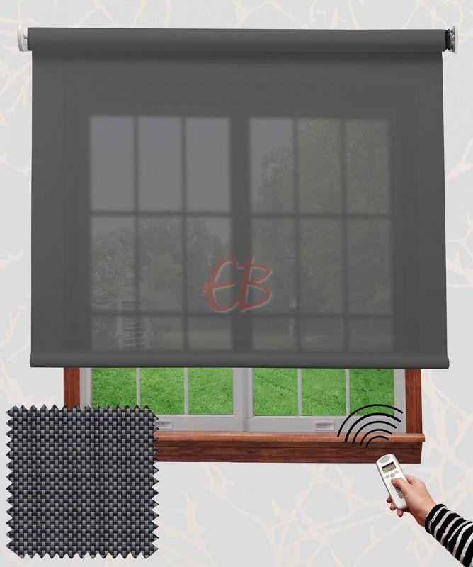 Estor enrollable motorizado Screen Antracita gris 18