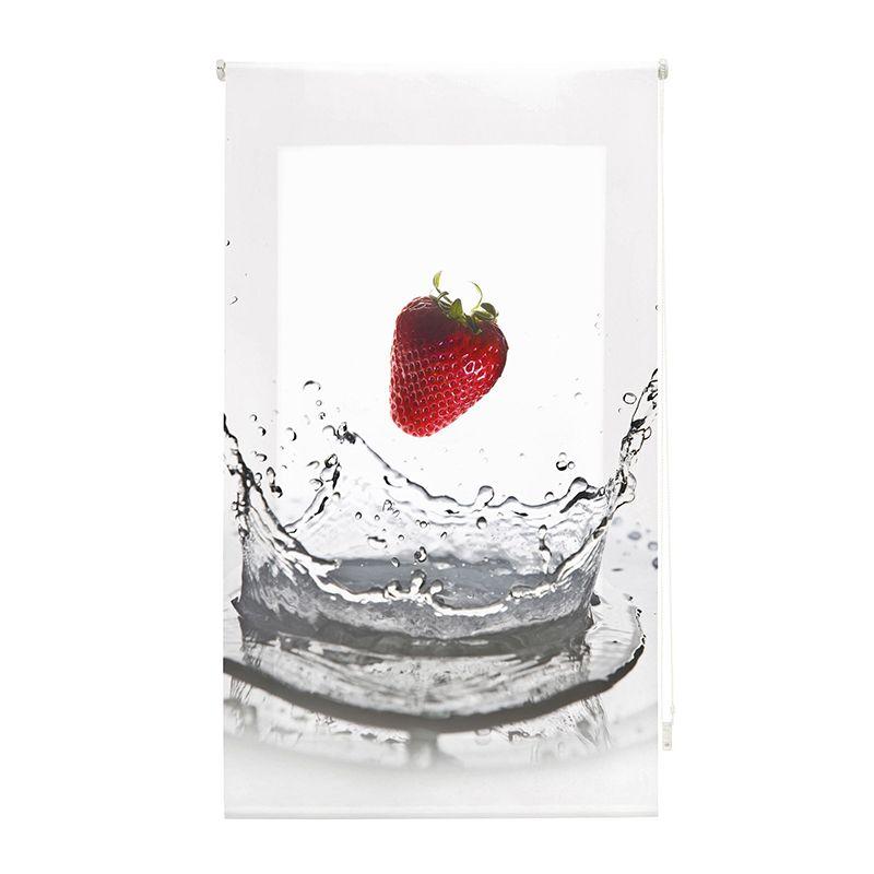 Estor enrollable cocina fresa en agua