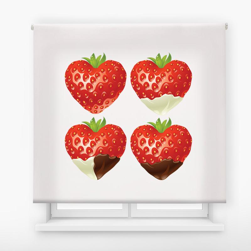 estor impresión digital estándar Fresas corazones