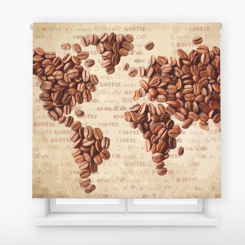 estor impresión digital estándar mapa café