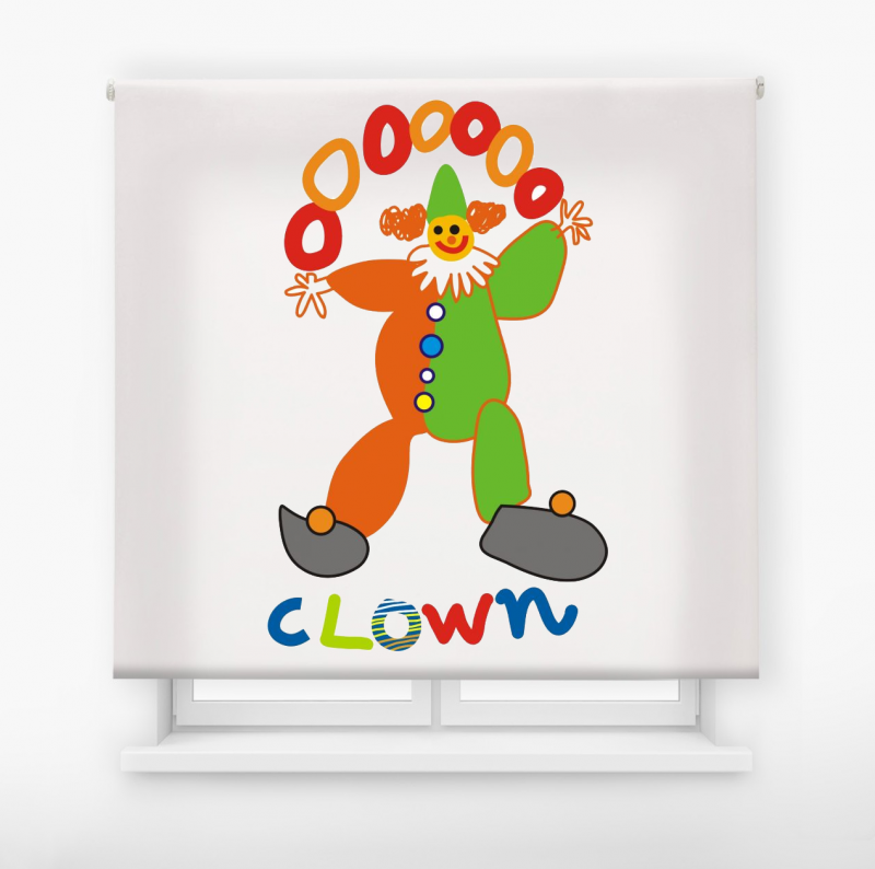 estor enrollable infantil modelo Clown