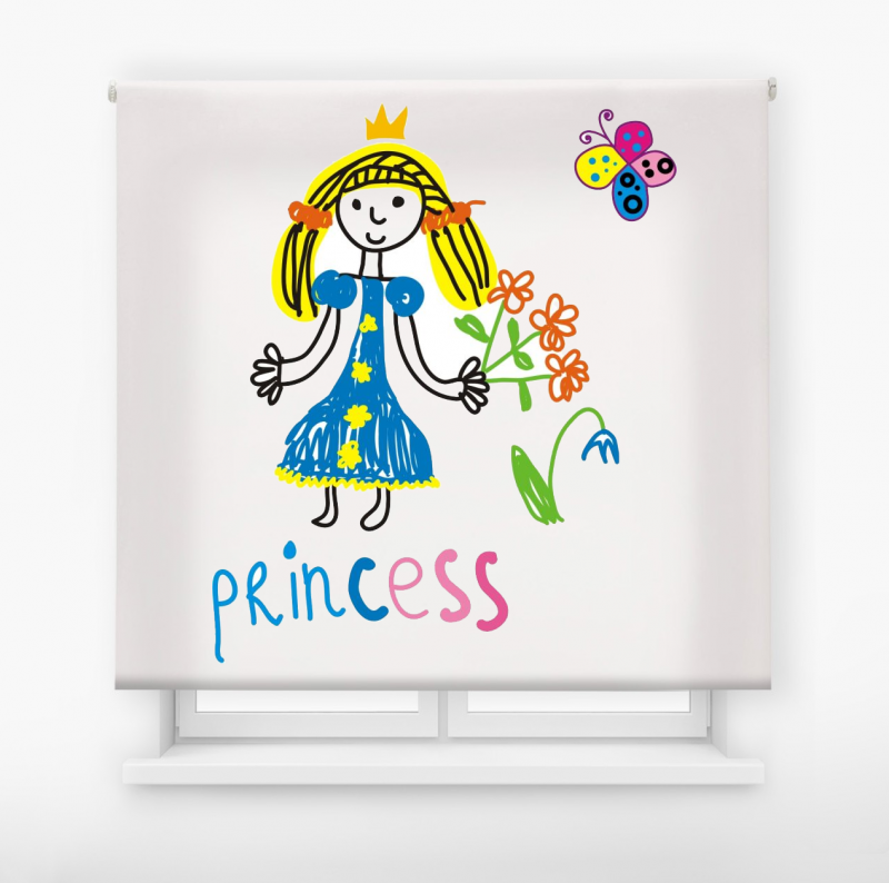 estor enrollable infantil modelo Princess