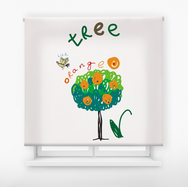 estor enrollable infantil modelo Tree