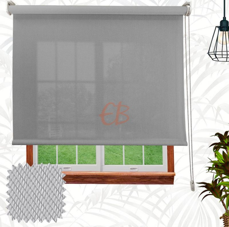 Estor enrollable  Screen Sarga Blanco gris 2802