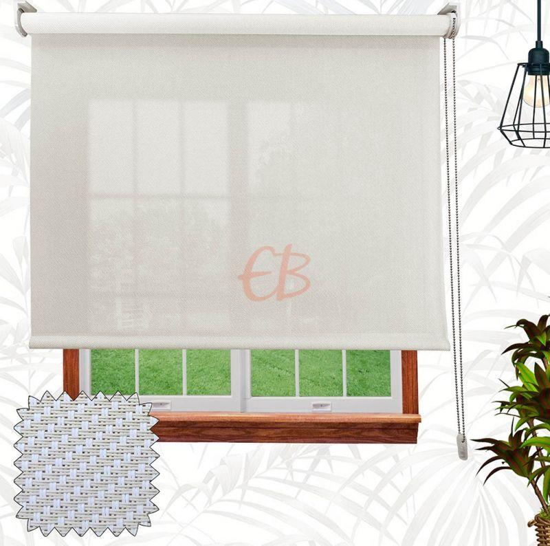 Estor enrollable Screen Sarga Blanco lino S55 01