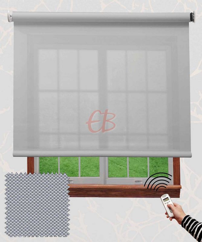 Enrollable motorizado EcoScreen baja visibilidad 1% Blanco perla B10207