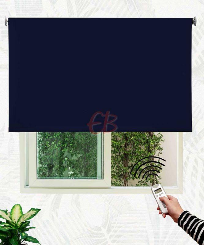 Estor enrollable opaco fibra de vidrio Azul marino DK06