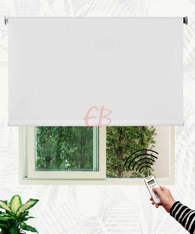 Estor enrollable opaco fibra de vidrio Blanco DK00