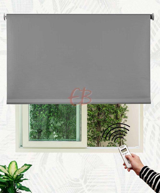 Estor enrollable opaco fibra de vidrio Gris oscuro DK12
