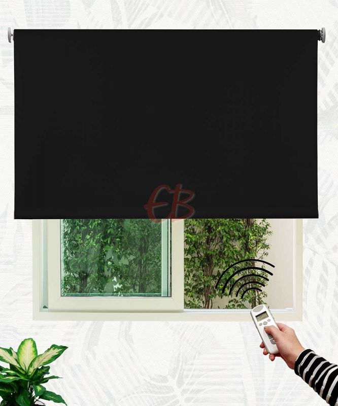 Estor enrollable opaco fibra de vidrio Negro DK13