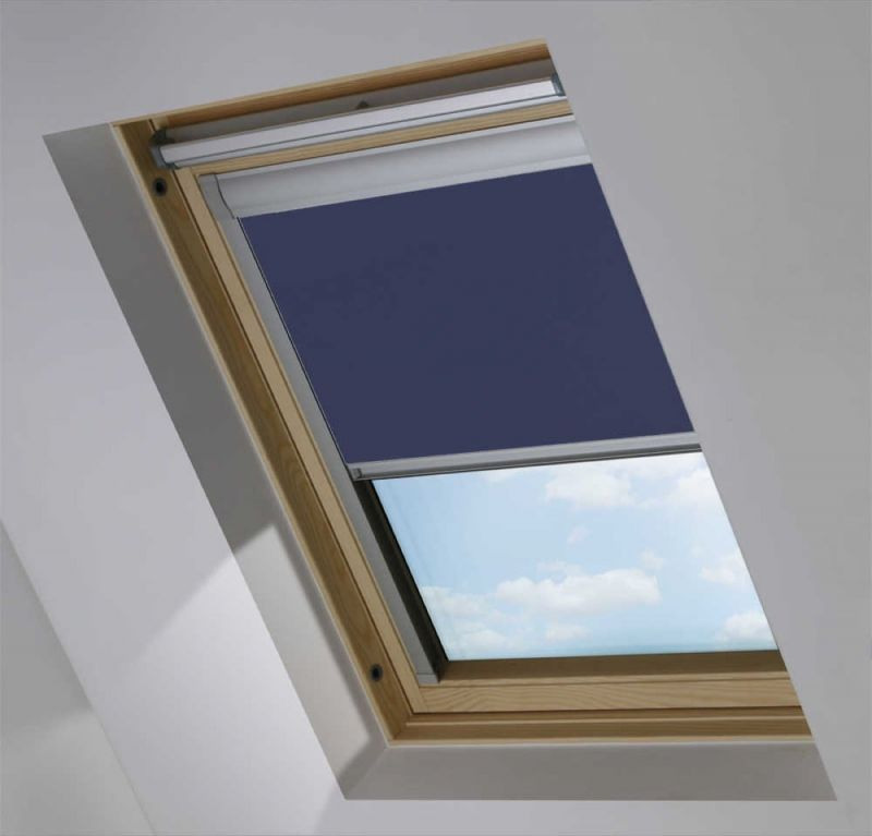 cortina de tejado para ventana velux color azul marino
