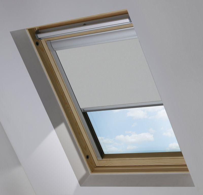 Cortina ventana tejado enrollable gris claro compatible con Velux