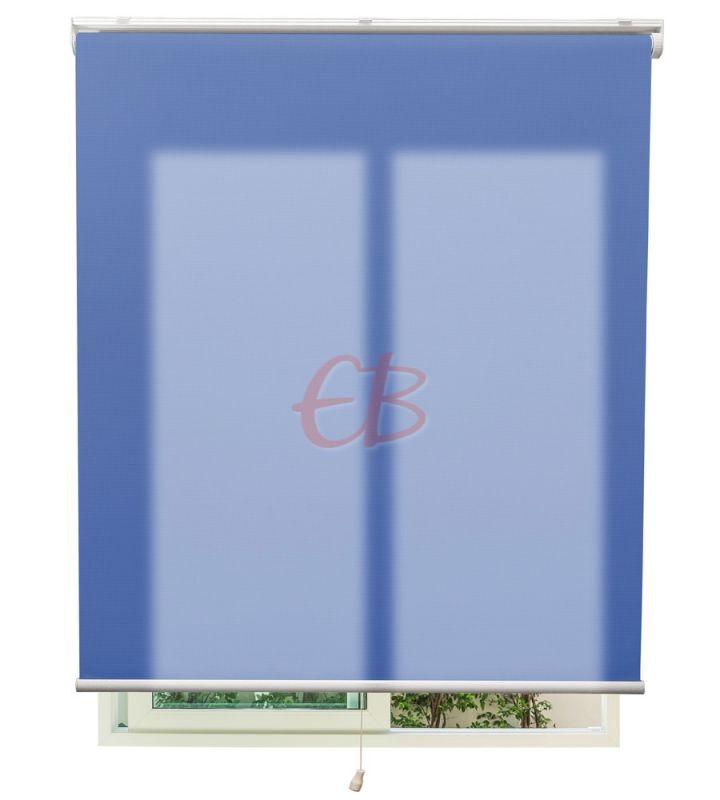 Estor autoenrollable traslúcido Azul 9620