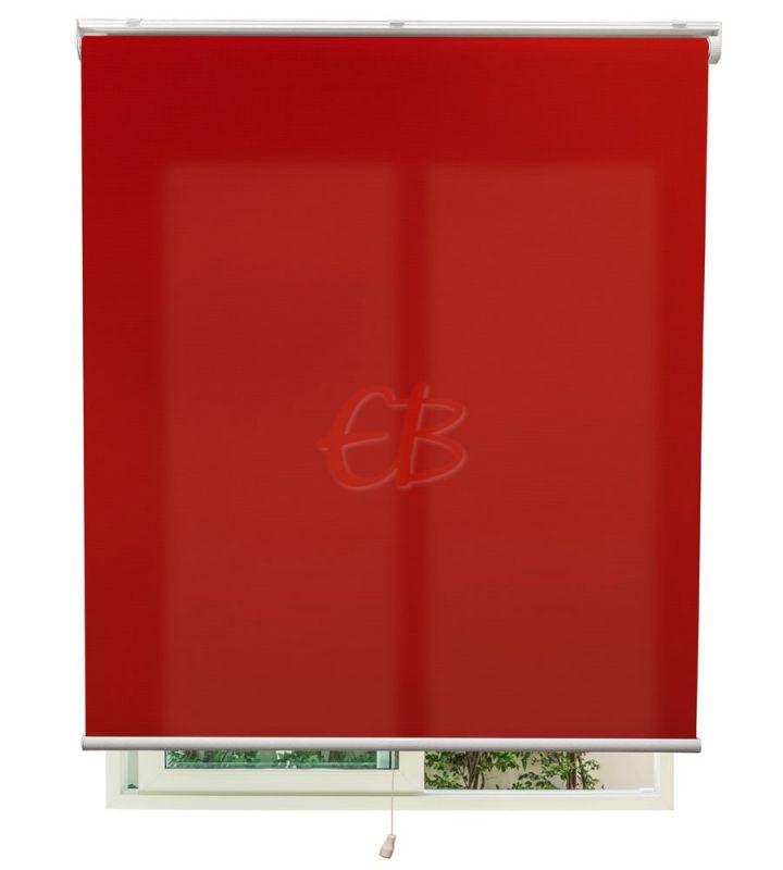 Estor autoenrollable traslúcido Rojo 5250