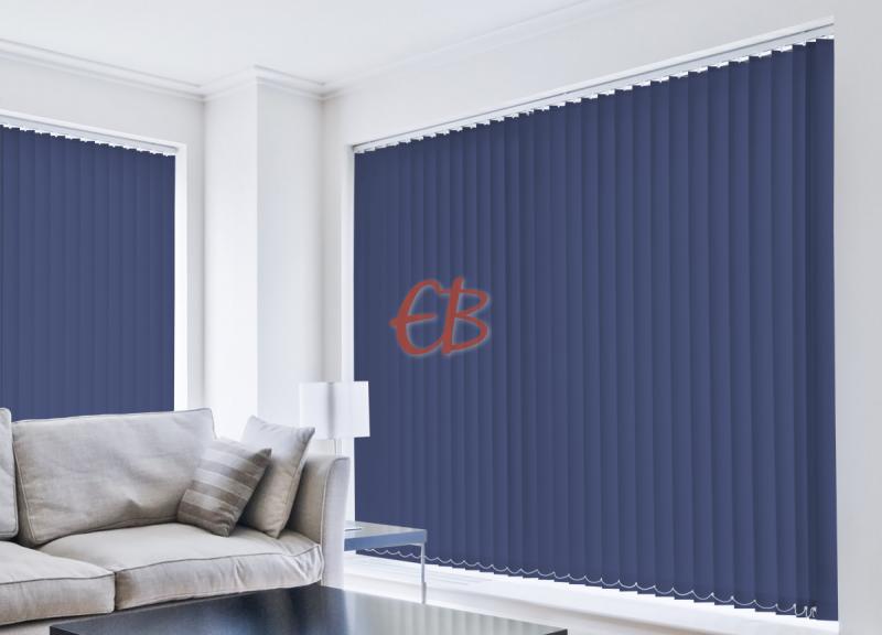 Cortina vertical loneta resina Azul Acero CA18