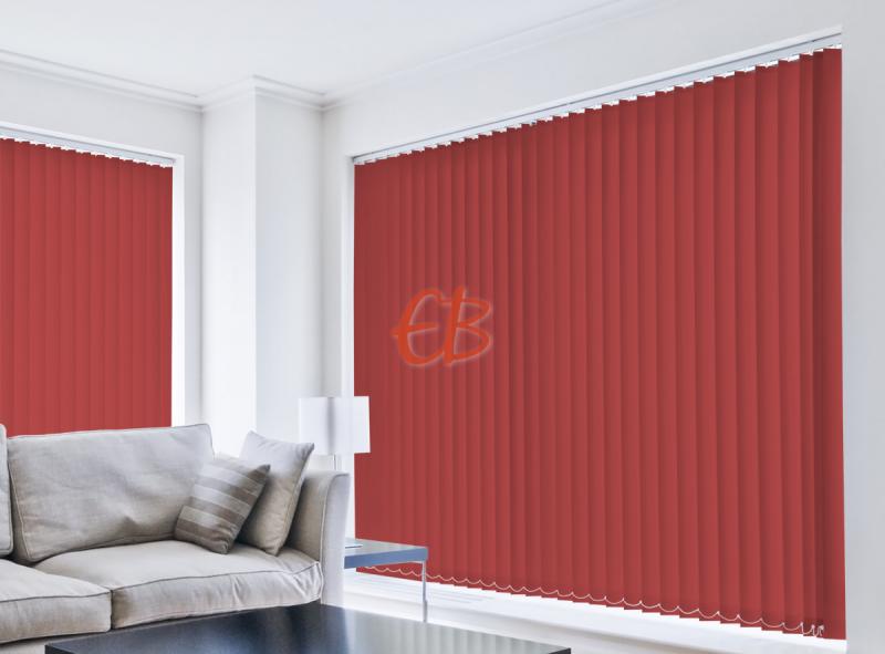 Cortina vertical loneta resina Rojo CA10