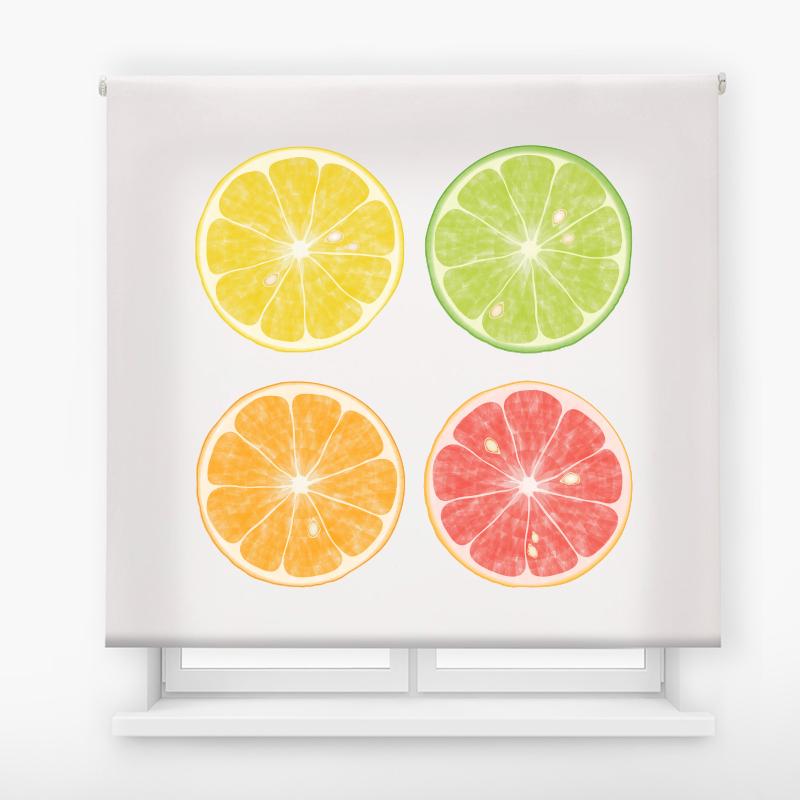 estor enrollable cocina ambient fruits  cítricos