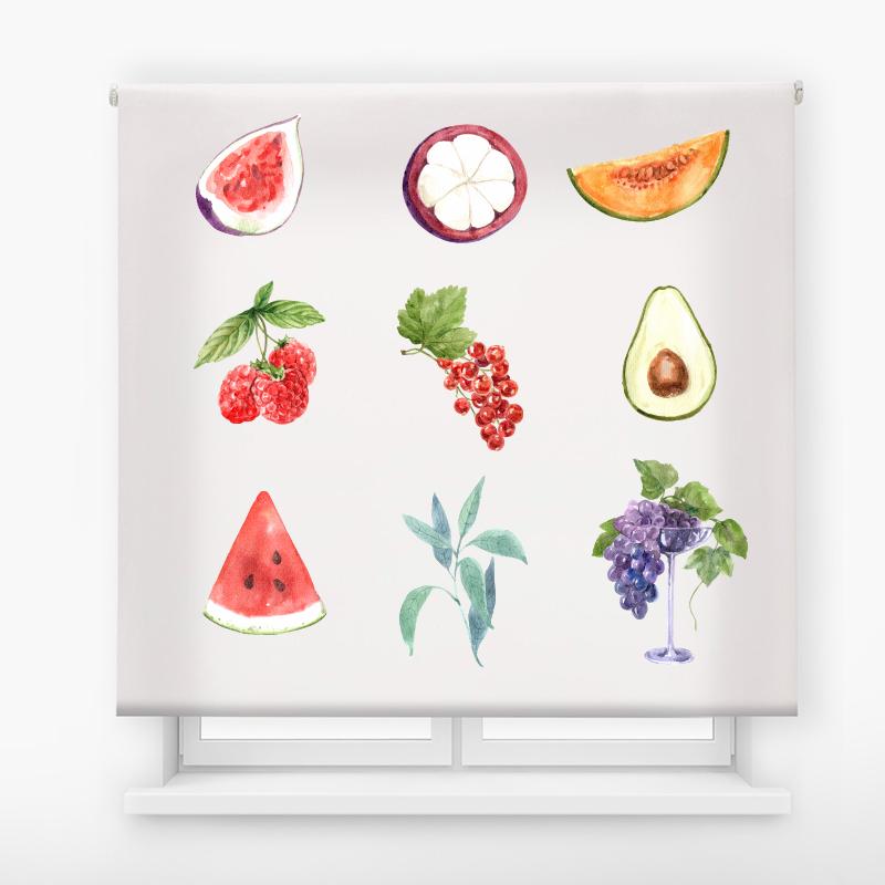 estor enrollable cocina ambient fruits fruta variada
