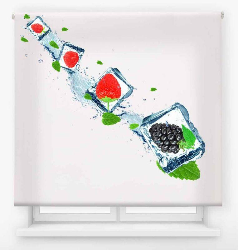 estor enrollable cocina ambient fruit frutos rojos hielo