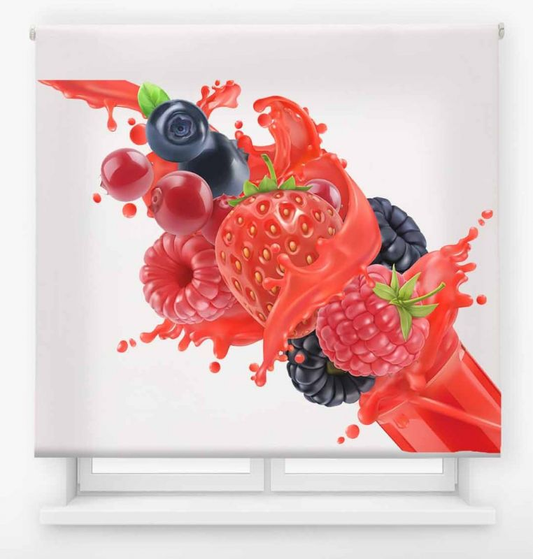 estor enrollable cocina ambient fruit frutos rojos splash