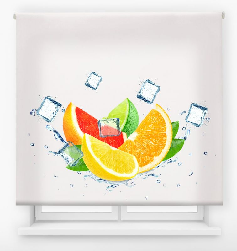 estor enrollable cocina ambient fruits lemon ice