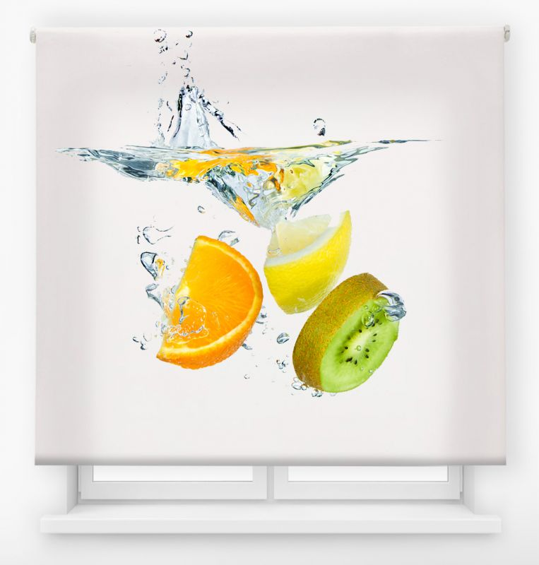 estor enrollable cocina ambient fruits lemon splash
