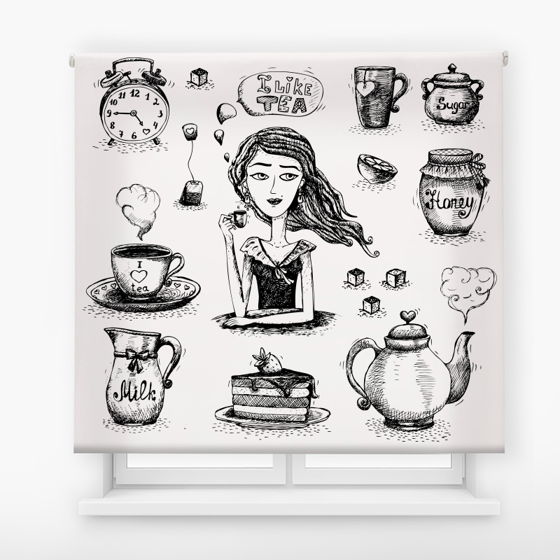 Estor de impresión digital acabado Like tea