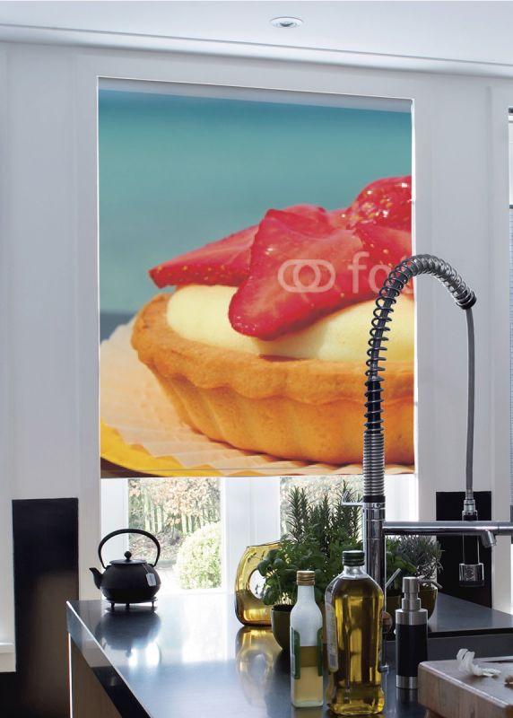 Estor enrollable cocina pastelito fresa