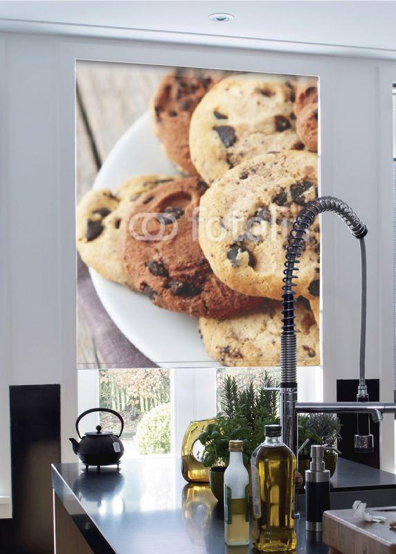 Estor enrollable cocina cookies