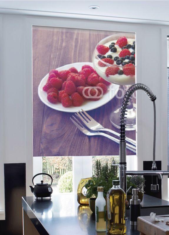 Estor enrollable cocina multifrutas desayuno