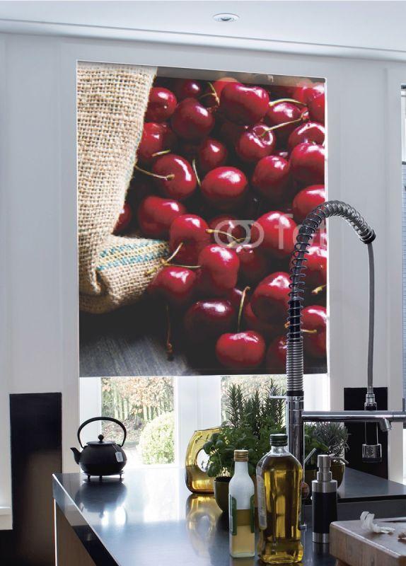 Estor enrollable cocina cerezas