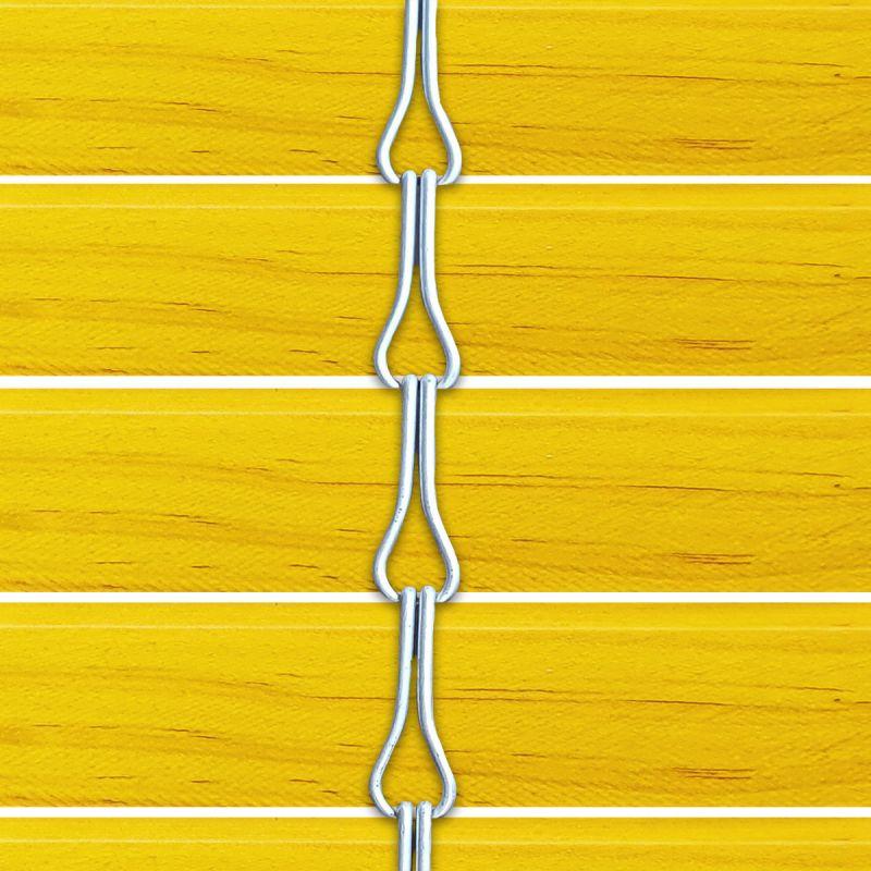 Persiana alicantina de madera acabado tintado amarillo