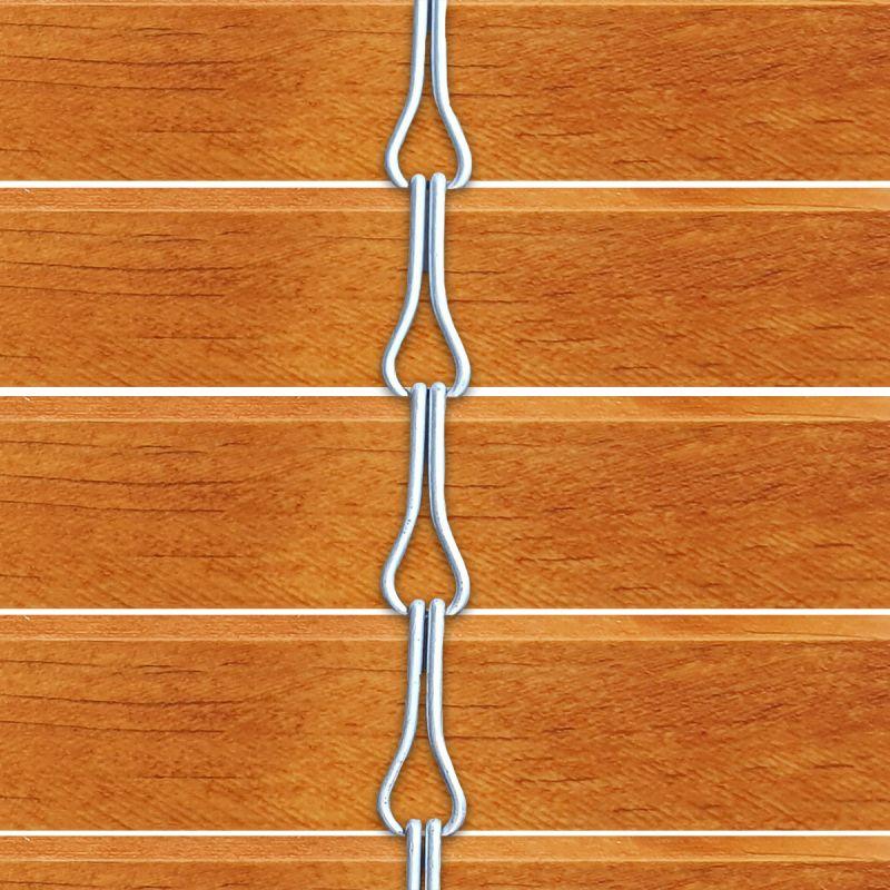Persiana alicantina de madera acabado tintado naranja
