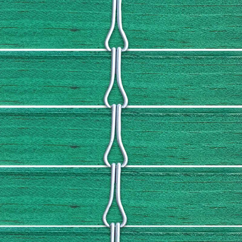 Persiana alicantina de madera acabado tintado verde