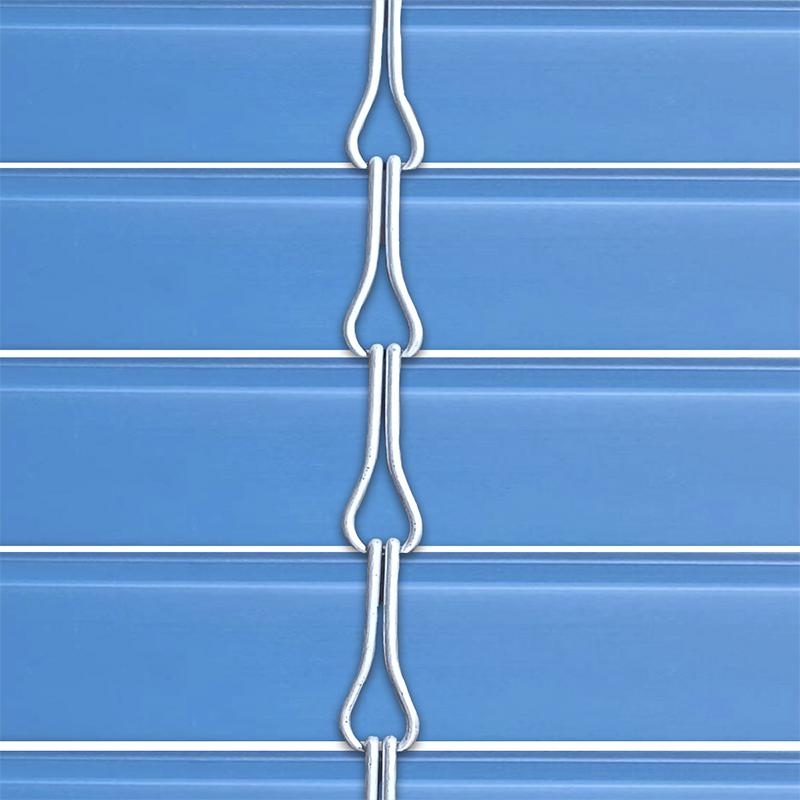 Persiana alicantina de PVC acabado azul