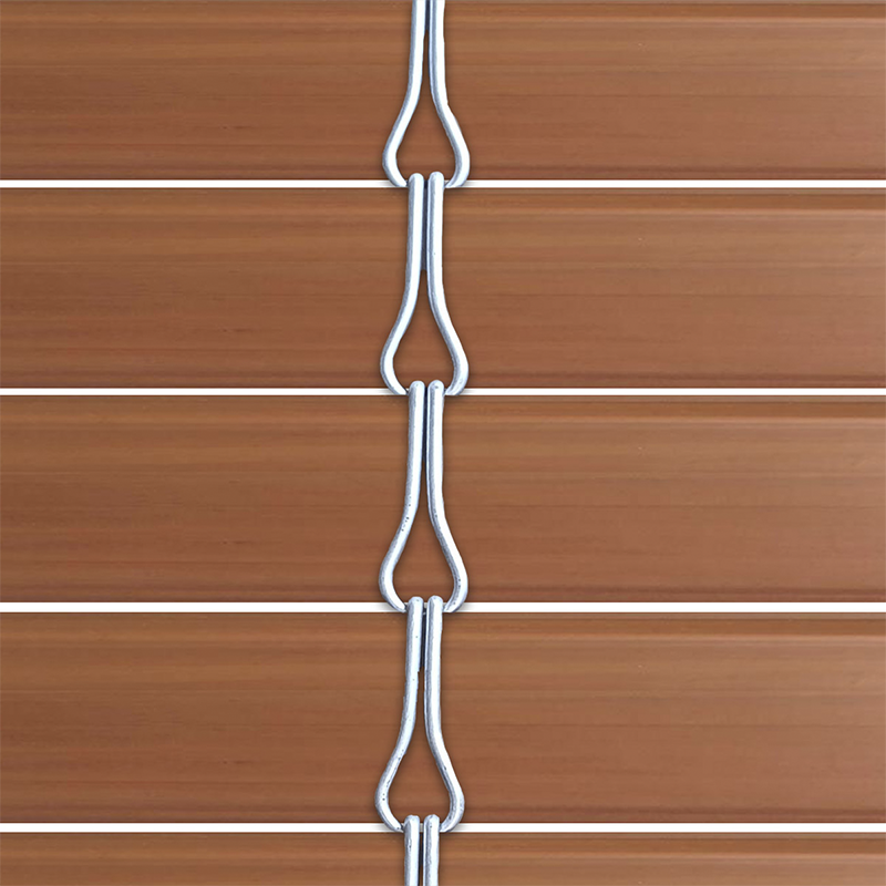 Persiana alicantina de PVC acabado oregón