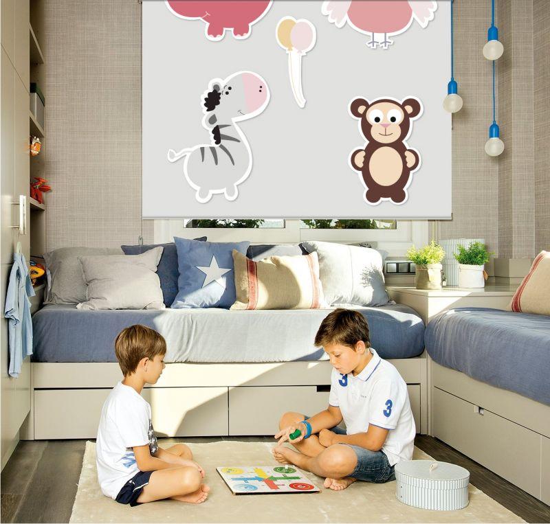 Estor enrollable infantil oso cebra
