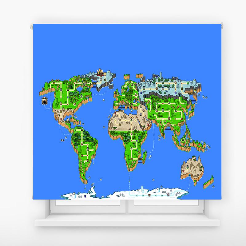 Estor enrollable juvenil videojuego mario bross MAP
