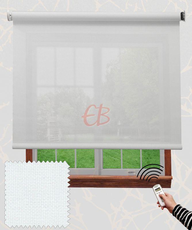 Estor con motor EcoScreen fibra de vidrio Blanco B50202