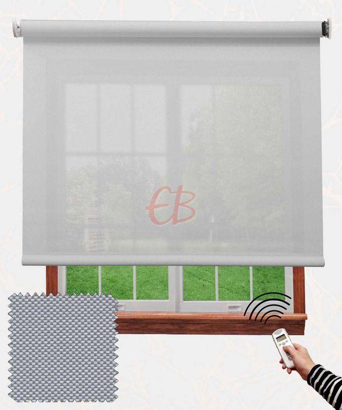 Estor con motor EcoScreen fibra de vidrio Blanco perla B50207