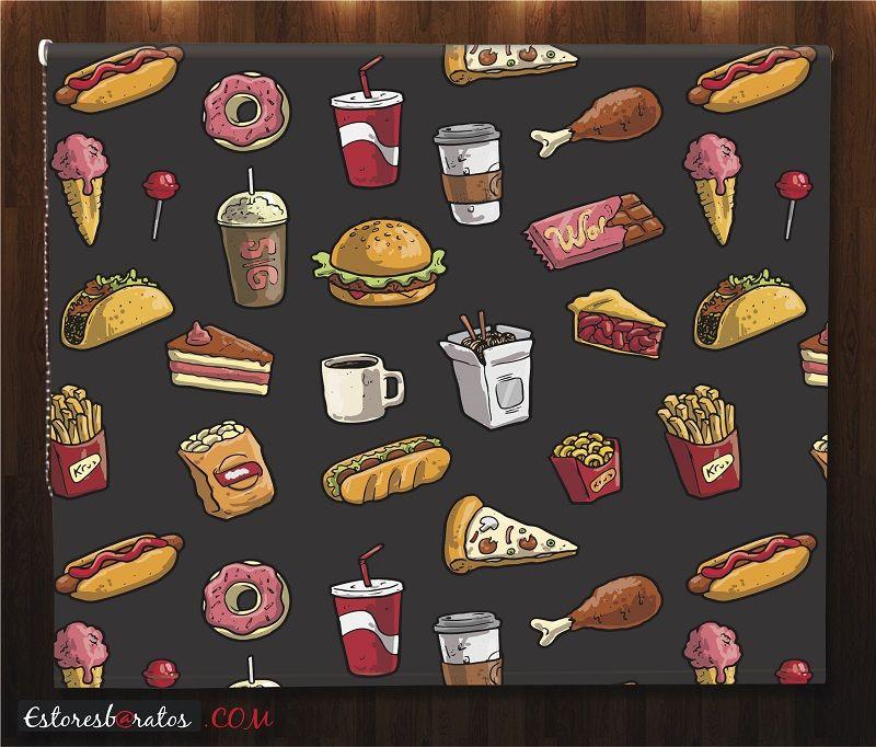 estor cocina impresión digital comida rápida
