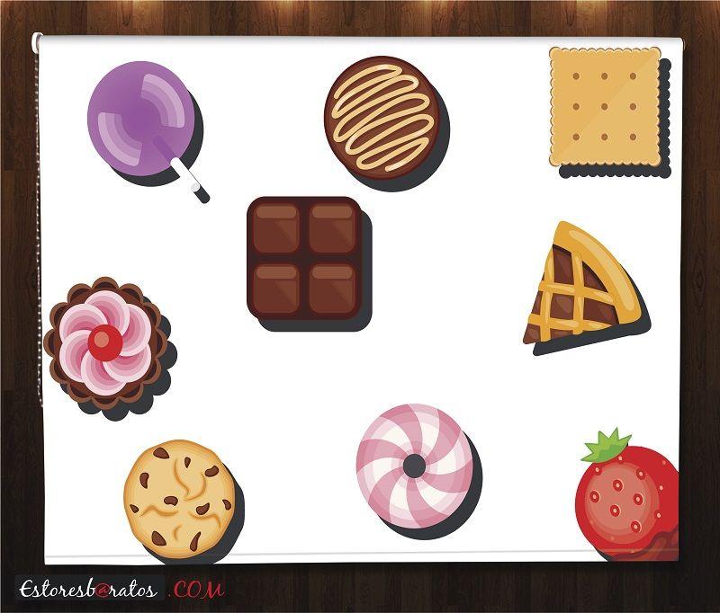 estor cocina impresión digital deliciosos iconos