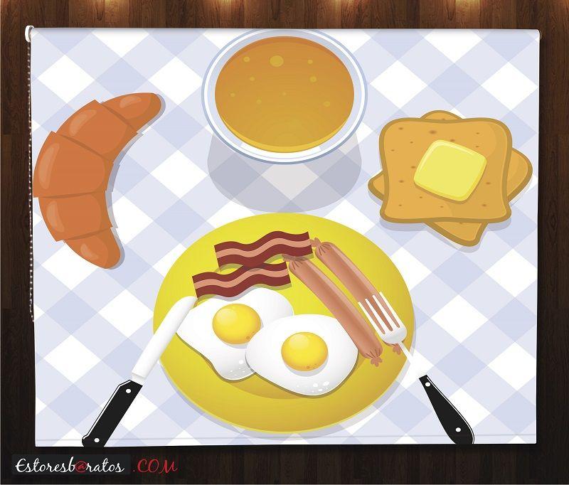 estor cocina impresión digital breakfast