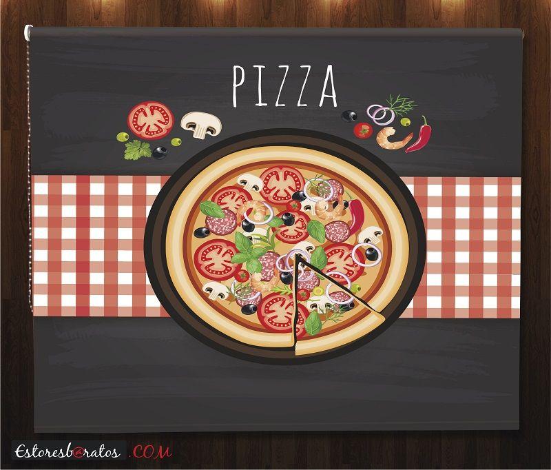 estor cocina impresión digital pizza
