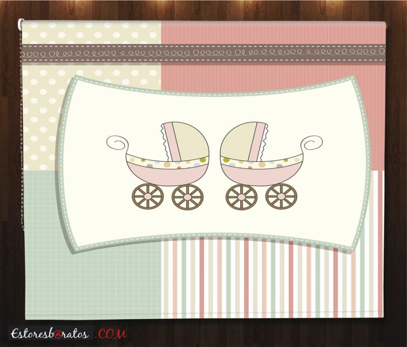 estores enrollables para bebes a medida diseño dúo