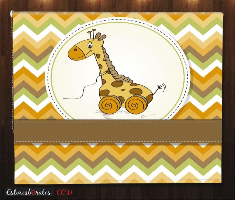 estores enrollables para bebes a medida jirafa