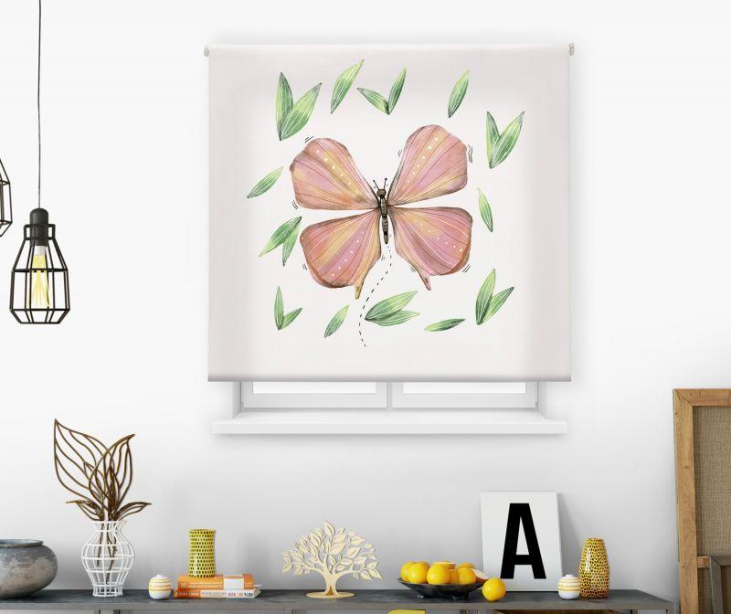 Estores impresión digital Acuarela Mariposa